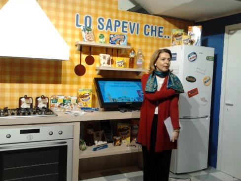Nella cucina Nestlè con Letizia Balducci (relazioni esterne Nestlè Italia)
