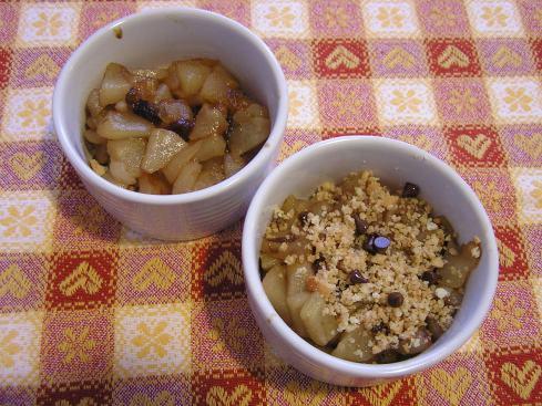 Dessert al volo: pere e biscotti