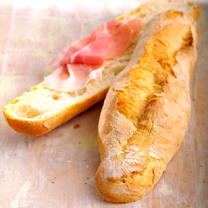 Pane tradizionale campano e Prosciutto San Daniele