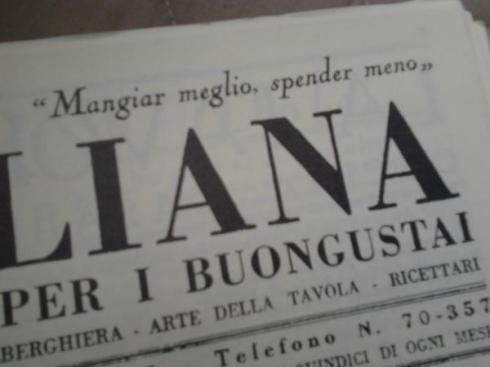 Copia del primo numero de La Cucina Italiana