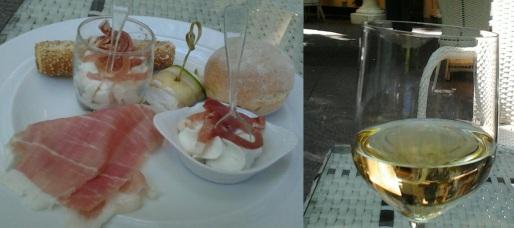Degustazione d'eccezione Prosciutto San Daniele e Friulano Doc all'anteprima di Aria di Festa nel Giardino dell'Hotel Sheraton Diana Majestic di Milano