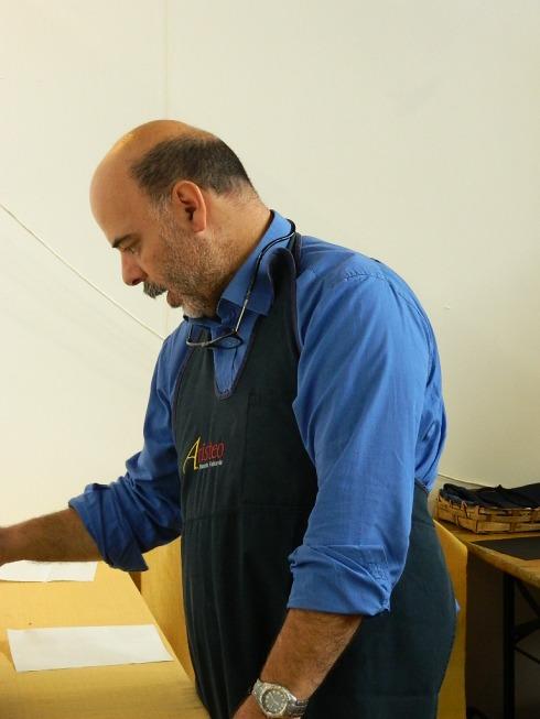 L'artigiano dei formaggi di capra Paolo Satta