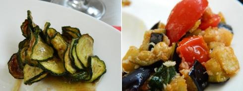 Zucchine alla scapece - Melanzane a funghetto