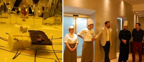 Il dessert e gli chef con carlo Vischi per i saluti finali