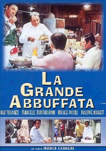 """La locandina del celebre film di Marco Ferreri """"La grande abbuffata"""""""