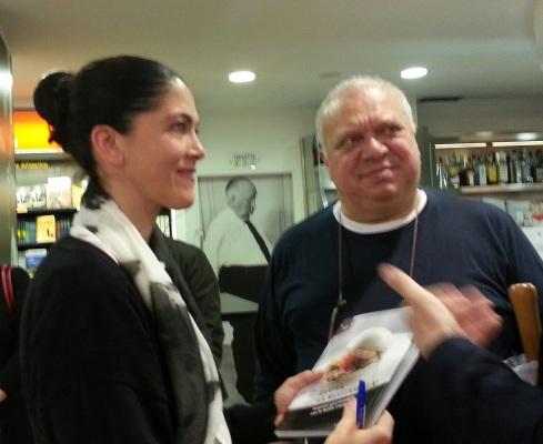 Rosanna Marziale con Allan Bay che ha scritto la prefazione del libro