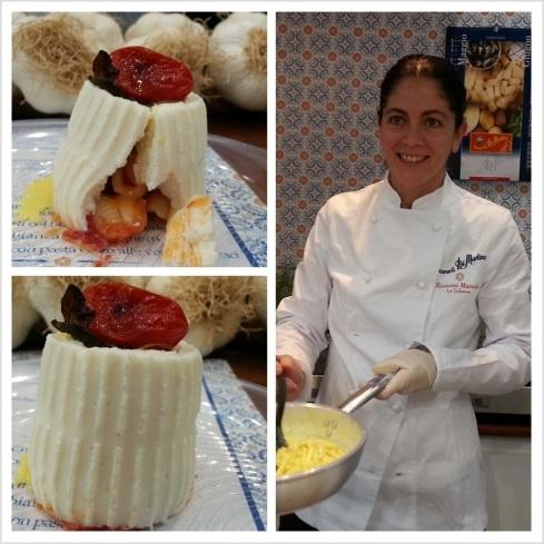 Rosanna Marziale durante uno showcooking per Pasta Di Martino durante Tutto Food (di quest'anno) a Milano