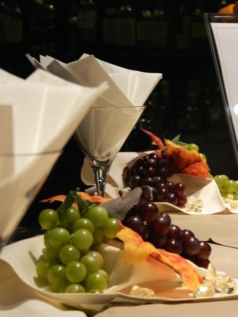 Il filo conduttore della cena è stata l'uva: Passione di... uva e vino!