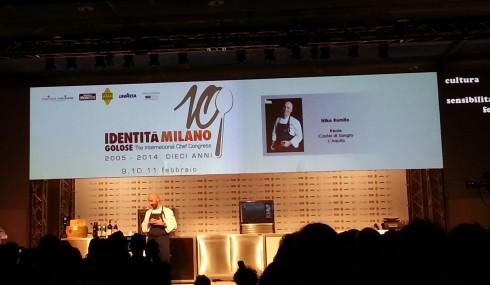 Niko Romito sul palco di Identità Golose 2014
