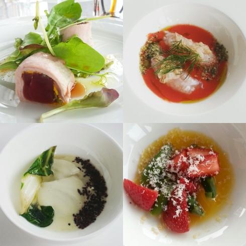 Alcuni dei piatti preparati dallo chef Marcello Trentini al Priceless