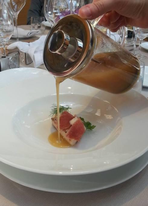 Ombrina candita, ricotta e acqua di San Daniele dello chef Emanuele Scarello